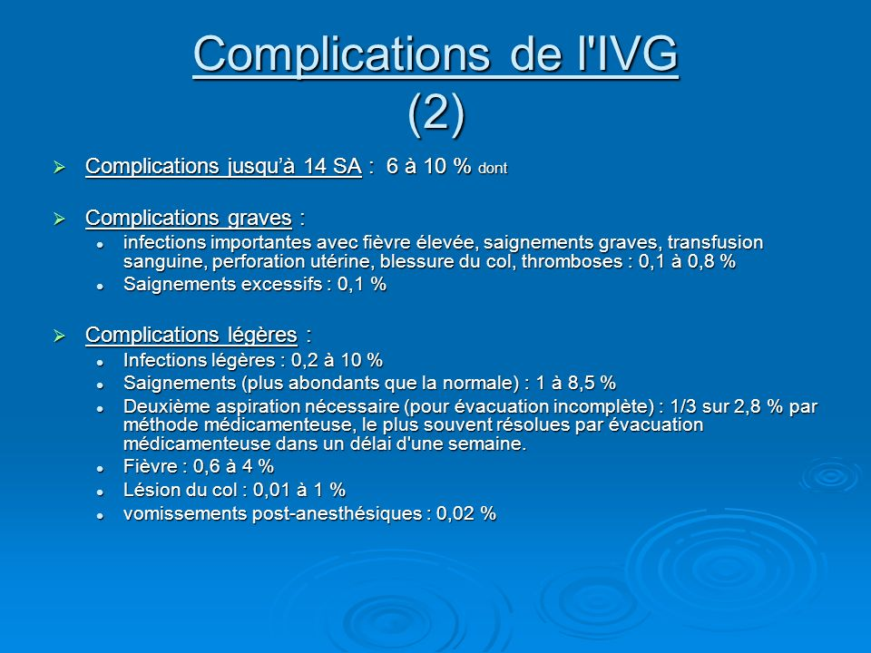 Complications de l IVG (2)