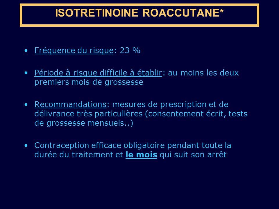 ISOTRETINOINE ROACCUTANE*