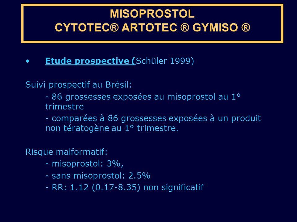 MISOPROSTOL CYTOTEC® ARTOTEC ® GYMISO ®