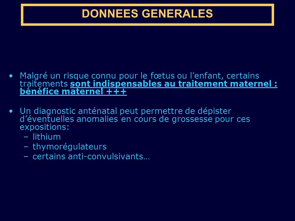 DONNEES GENERALES