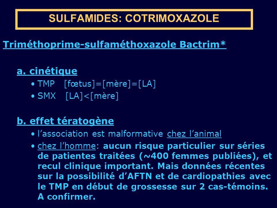 SULFAMIDES: COTRIMOXAZOLE