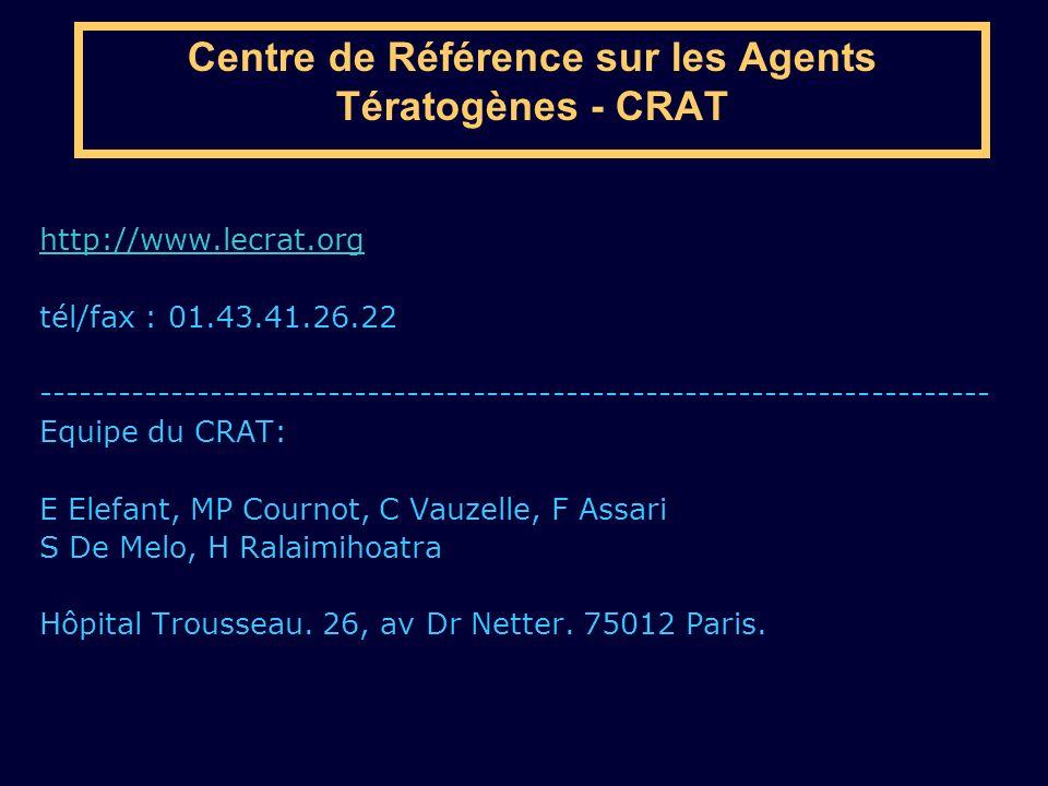 Centre de Référence sur les Agents Tératogènes - CRAT