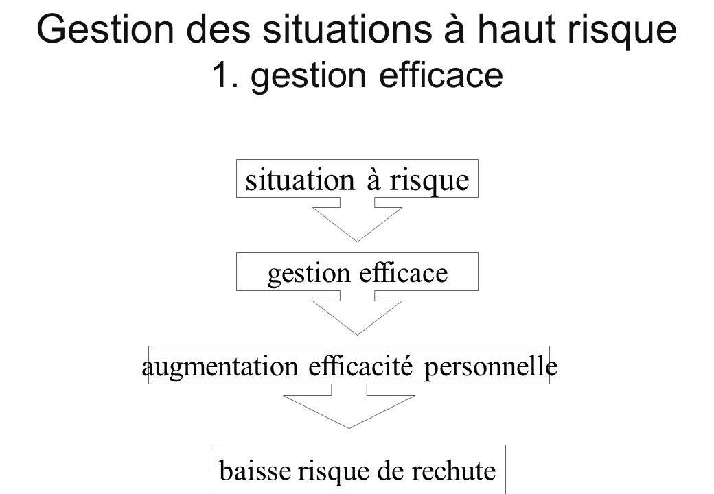 Gestion des situations à haut risque 1. gestion efficace