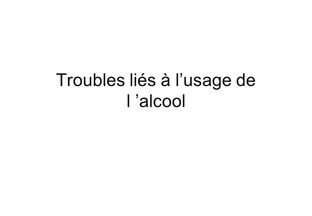 Troubles liés à l'usage de l 'alcool