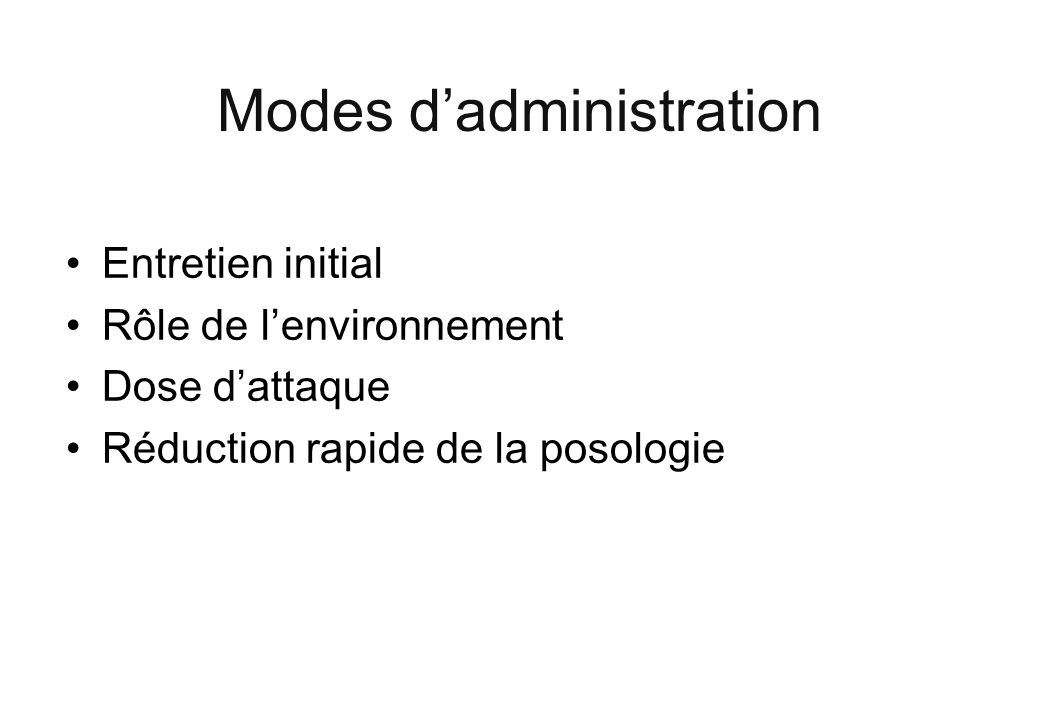 Modes d'administration
