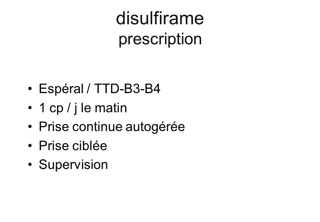 disulfirame prescription
