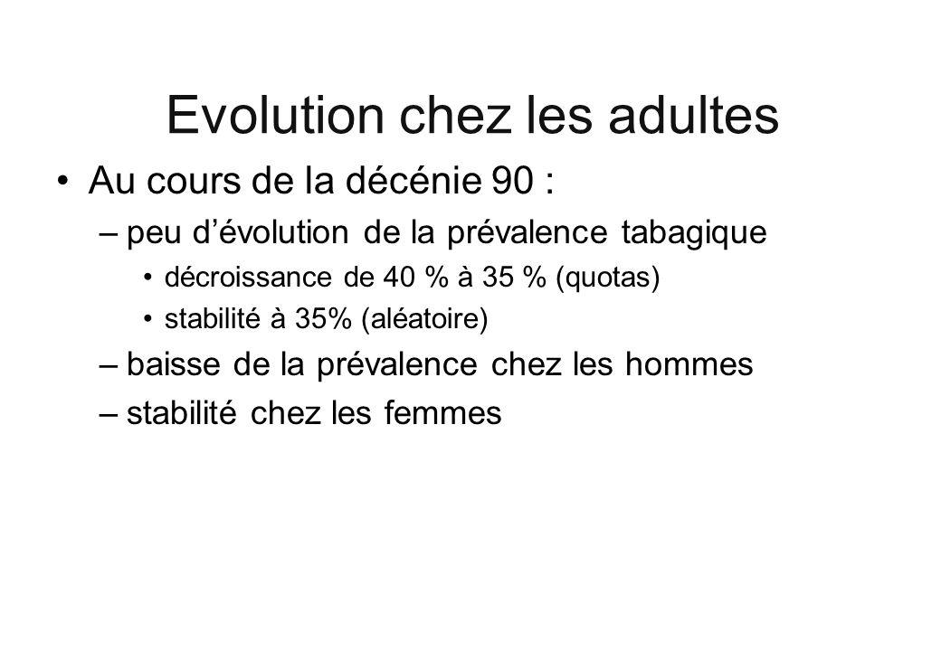 Evolution chez les adultes