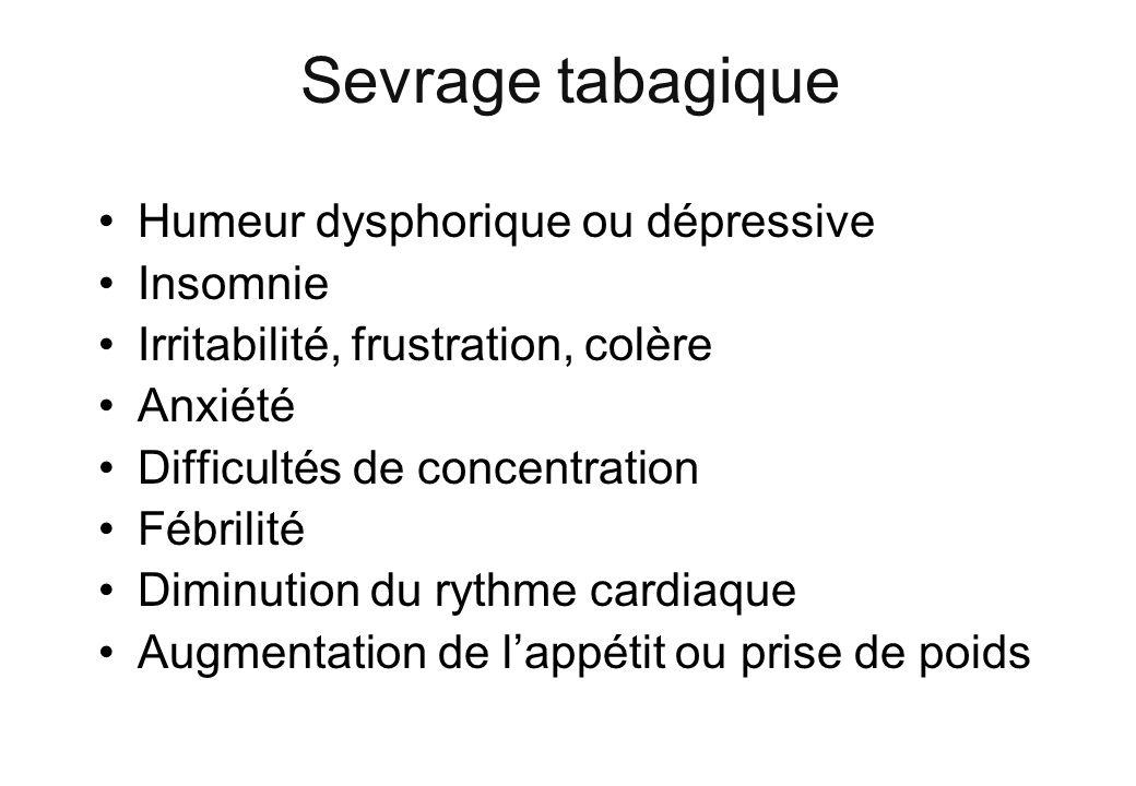 Sevrage tabagique Humeur dysphorique ou dépressive Insomnie
