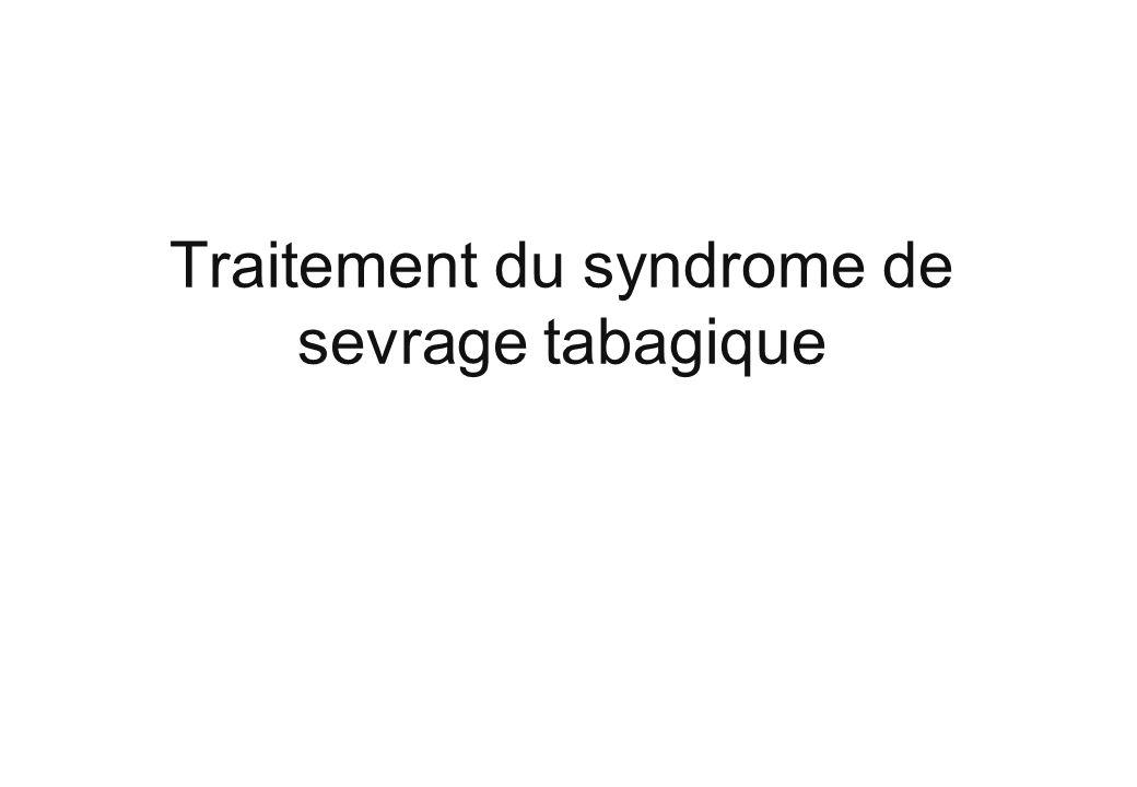 Traitement du syndrome de sevrage tabagique