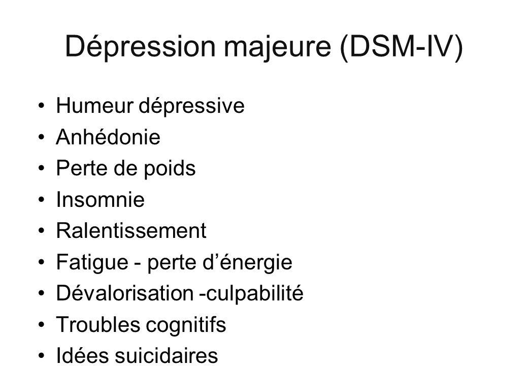 Dépression majeure (DSM-IV)