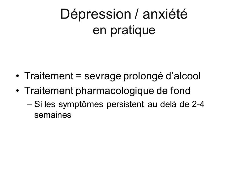 Dépression / anxiété en pratique