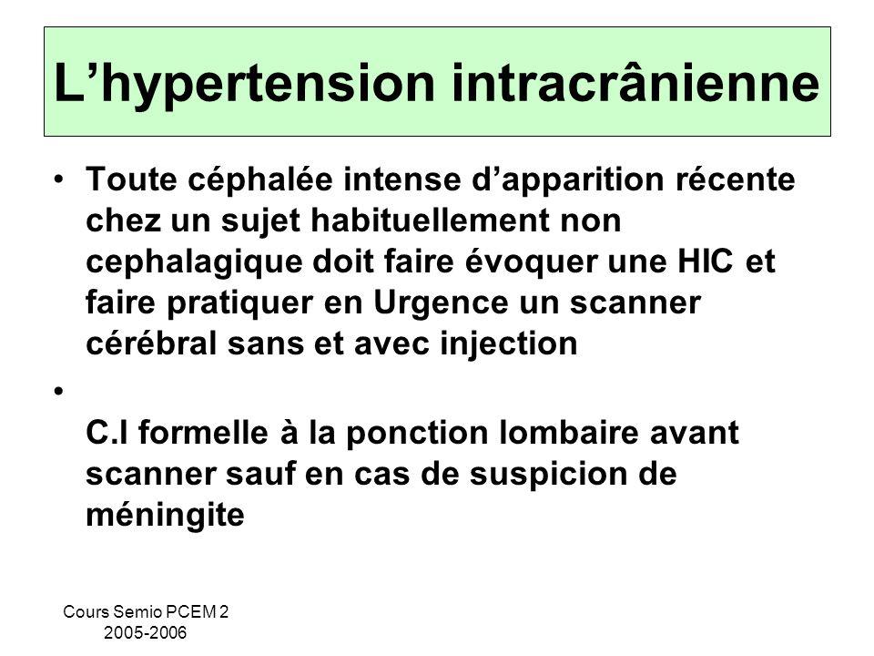 L'hypertension intracrânienne