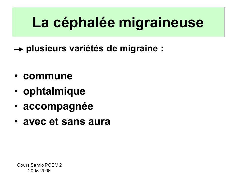 La céphalée migraineuse