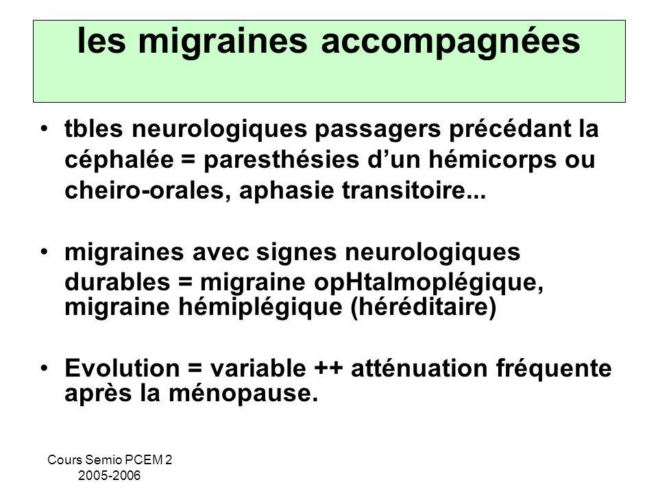 les migraines accompagnées