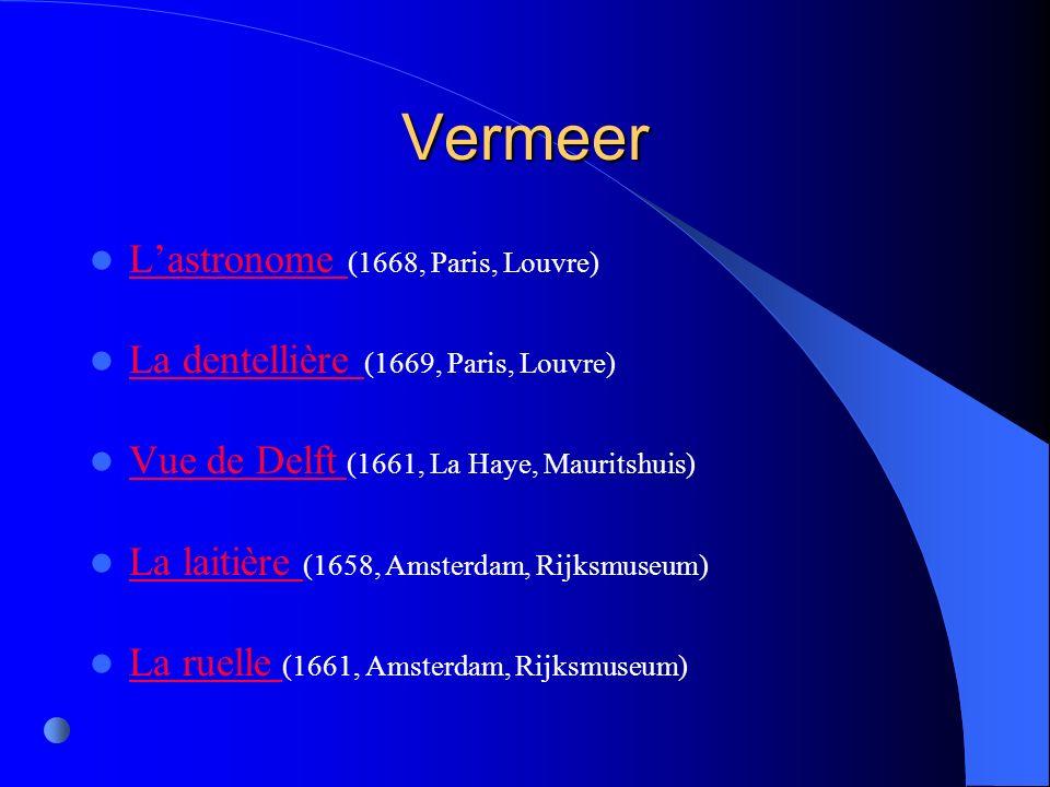 Vermeer L'astronome (1668, Paris, Louvre)