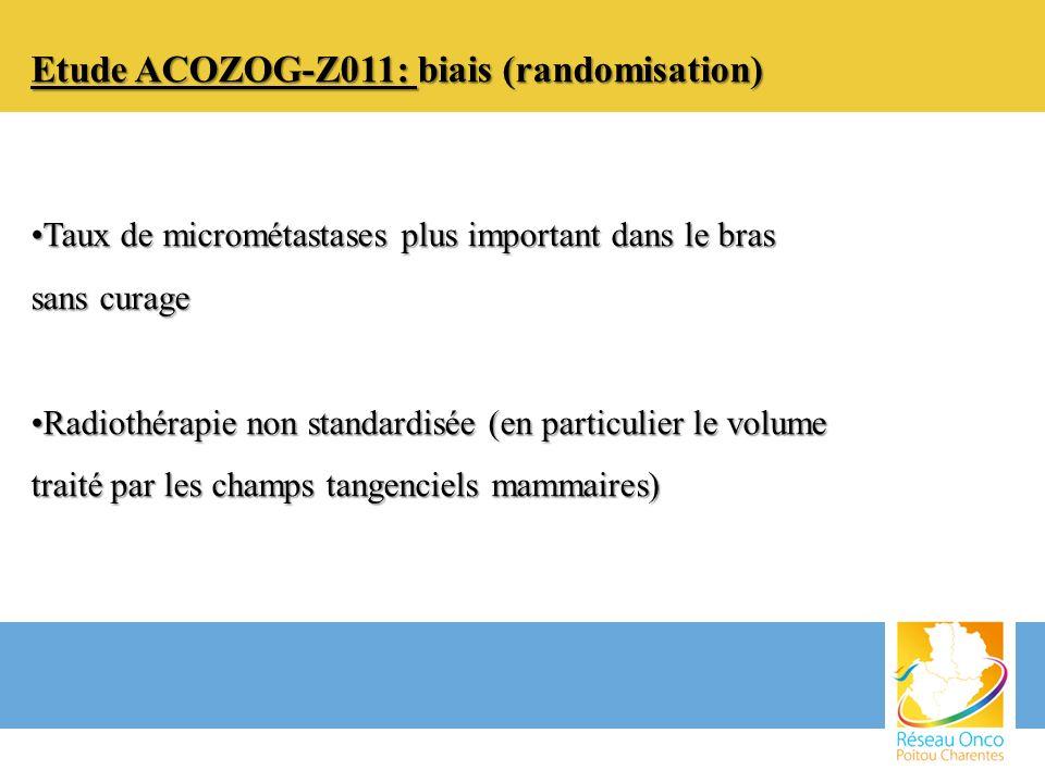 Etude ACOZOG-Z011: biais (randomisation)