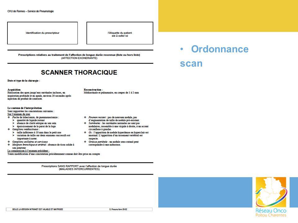 Ordonnance scan