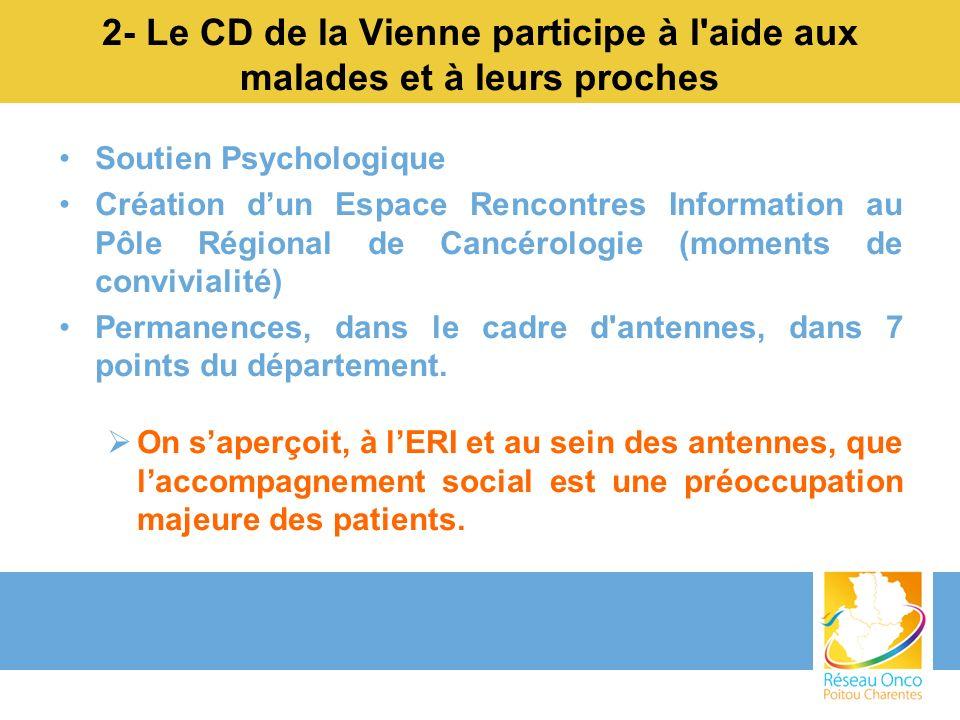 2- Le CD de la Vienne participe à l aide aux malades et à leurs proches