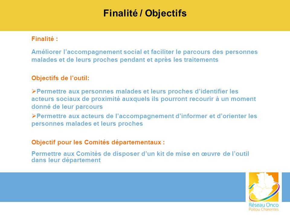 Finalité / Objectifs Finalité :