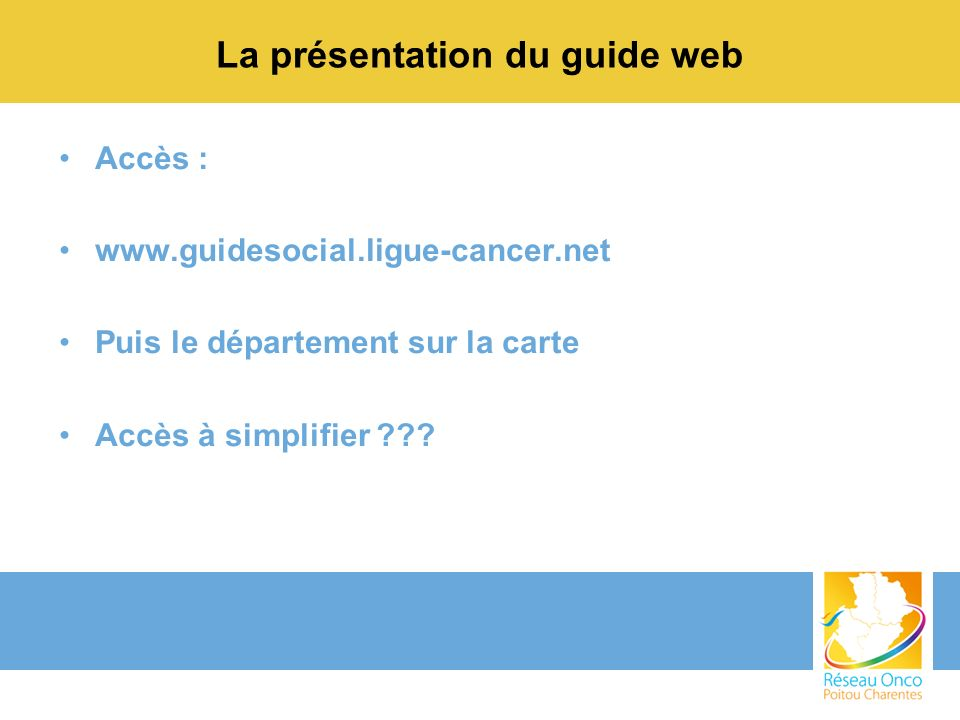 La présentation du guide web