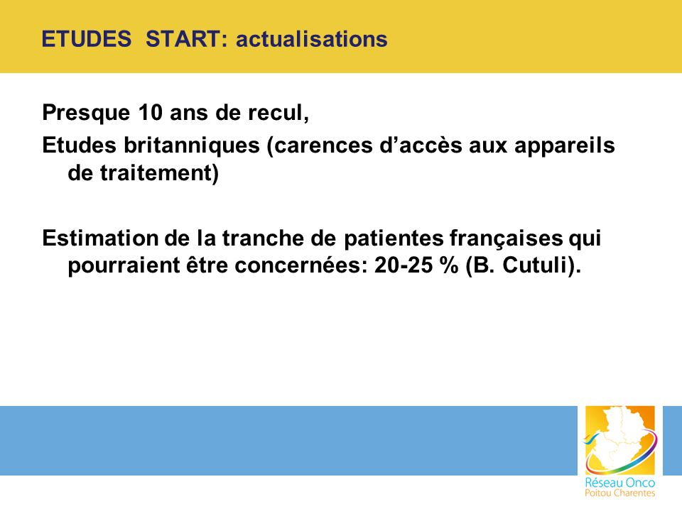 ETUDES START: actualisations