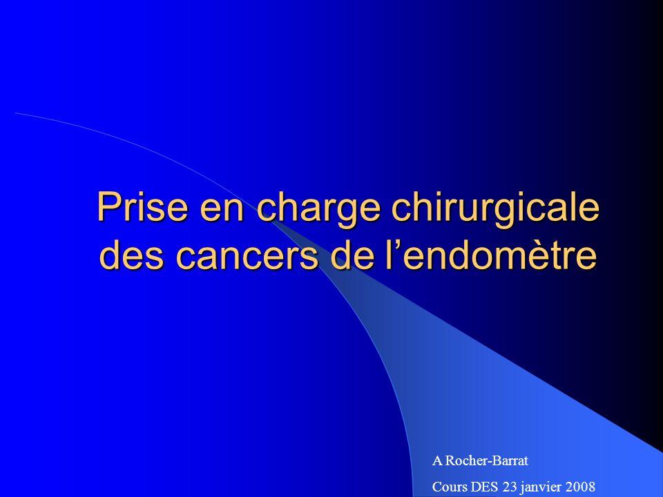 Prise en charge chirurgicale des cancers de l'endomètre