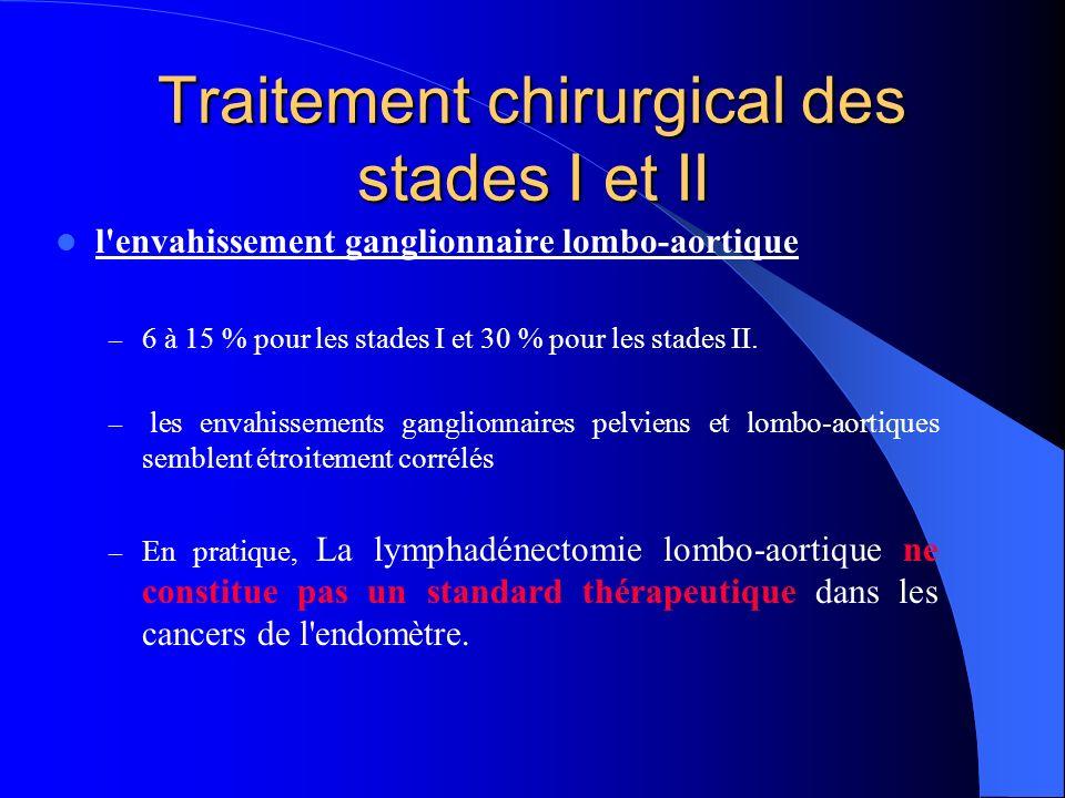 Traitement chirurgical des stades I et II