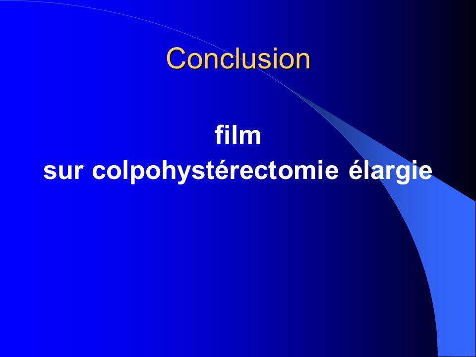 sur colpohystérectomie élargie