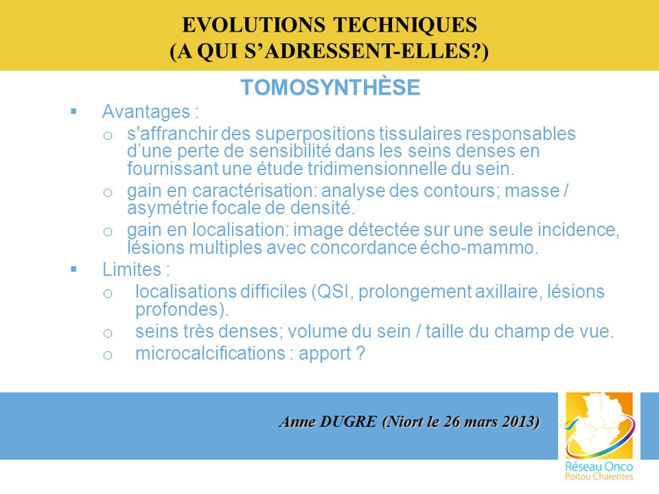 EVOLUTIONS TECHNIQUES (A QUI S'ADRESSENT-ELLES )