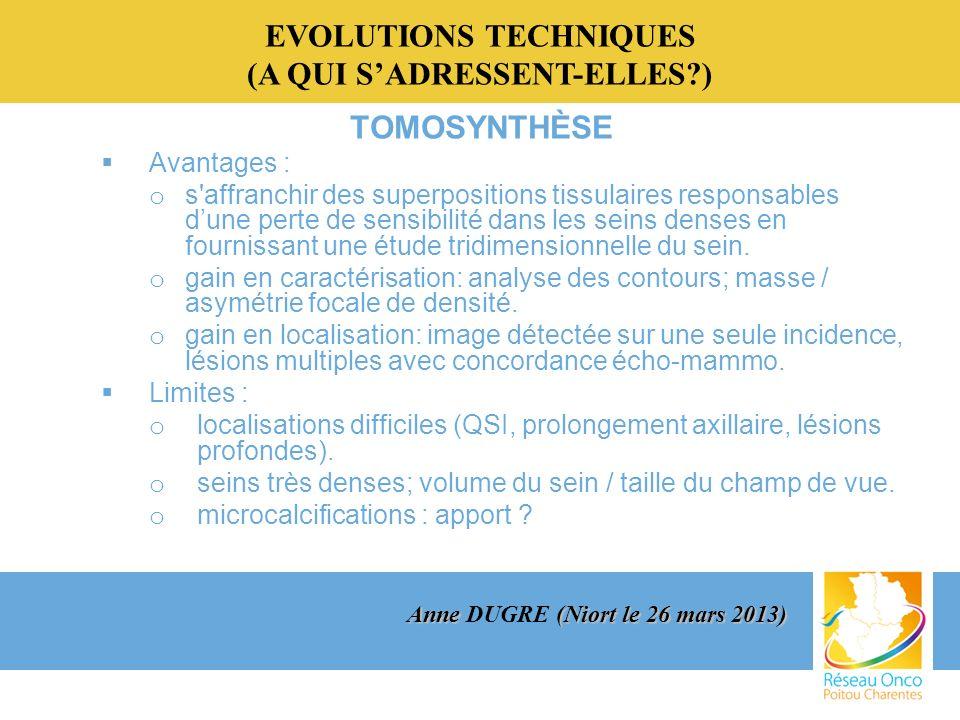EVOLUTIONS TECHNIQUES (A QUI S'ADRESSENT-ELLES )