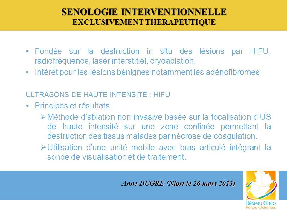 SENOLOGIE INTERVENTIONNELLE EXCLUSIVEMENT THERAPEUTIQUE