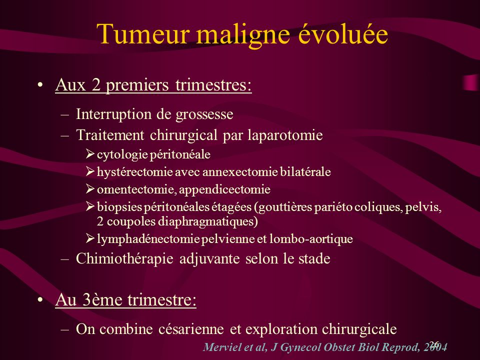 Tumeur maligne évoluée