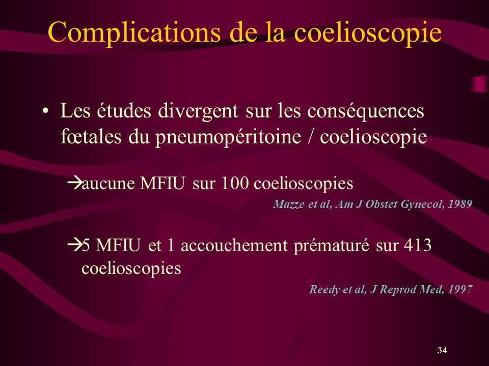 Complications de la coelioscopie