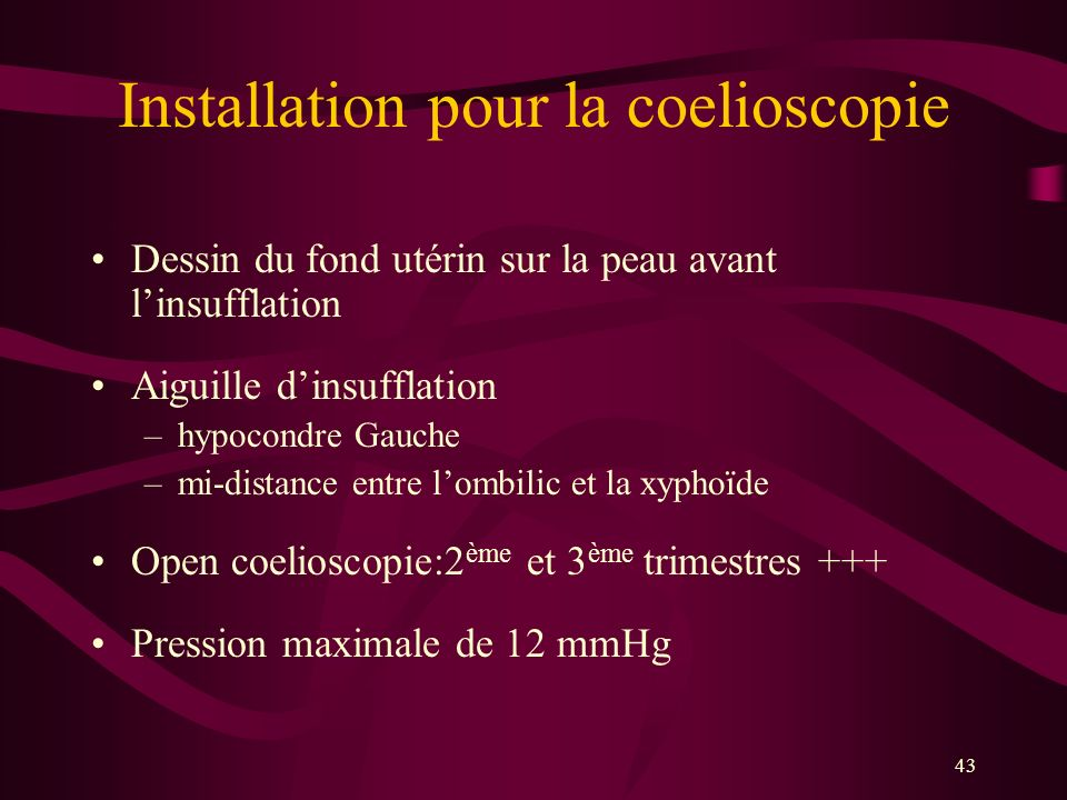 Installation pour la coelioscopie