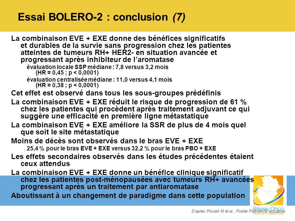 Essai BOLERO-2 : conclusion (7)