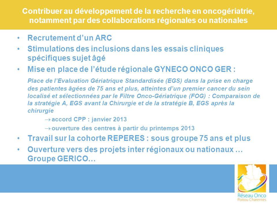 Mise en place de l'étude régionale GYNECO ONCO GER :