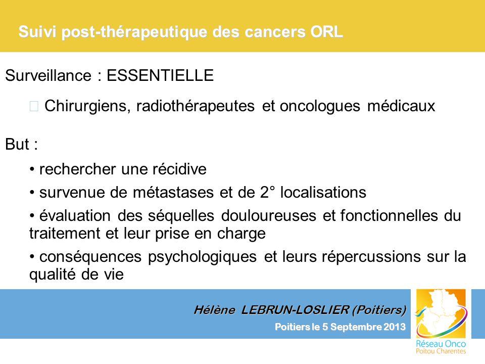 Suivi post-thérapeutique des cancers ORL