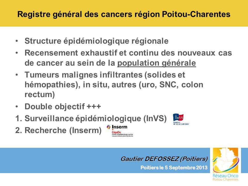 Registre général des cancers région Poitou-Charentes