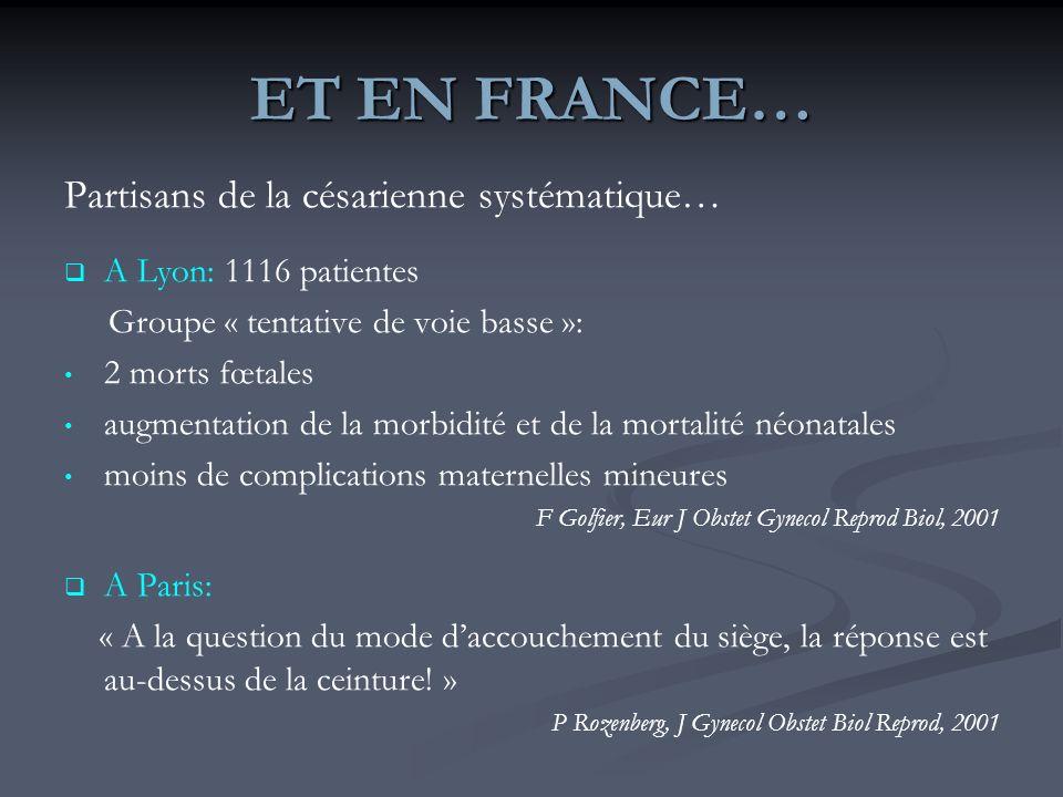 ET EN FRANCE… Partisans de la césarienne systématique…