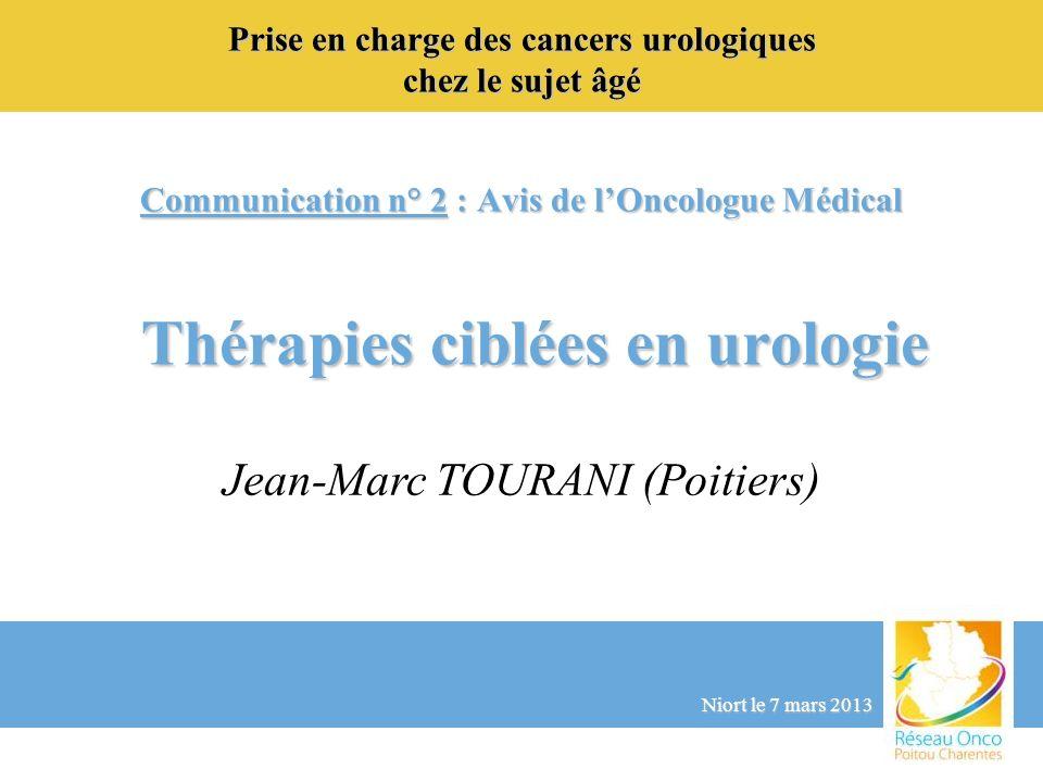 Prise en charge des cancers urologiques chez le sujet âgé