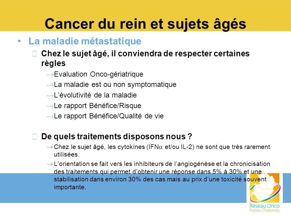 Cancer du rein et sujets âgés