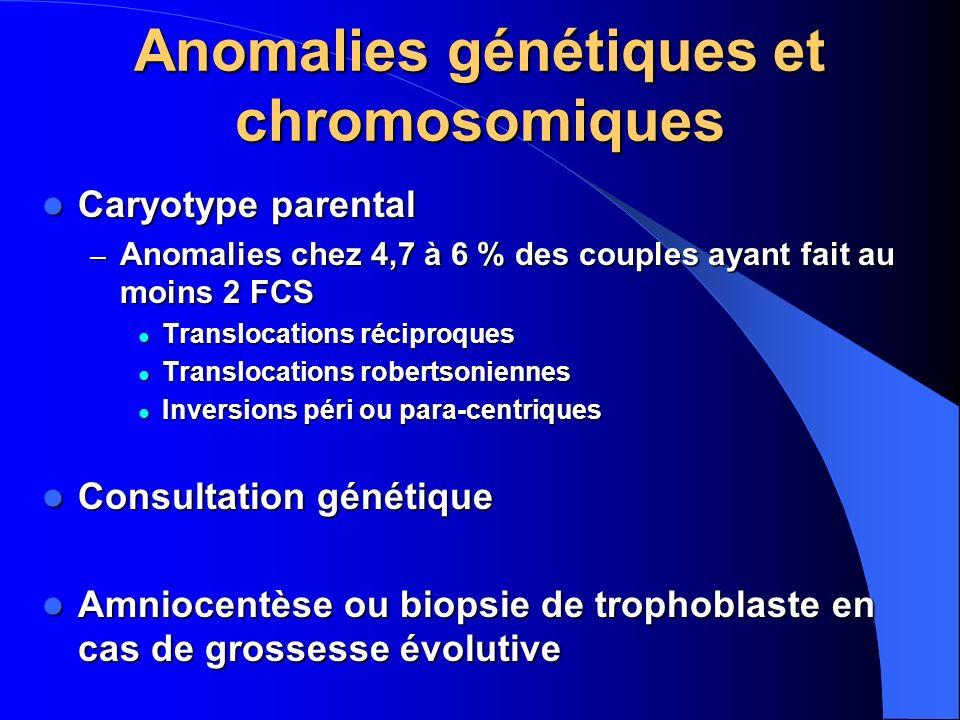 Anomalies génétiques et chromosomiques