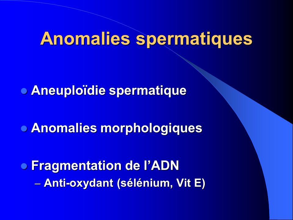 Anomalies spermatiques