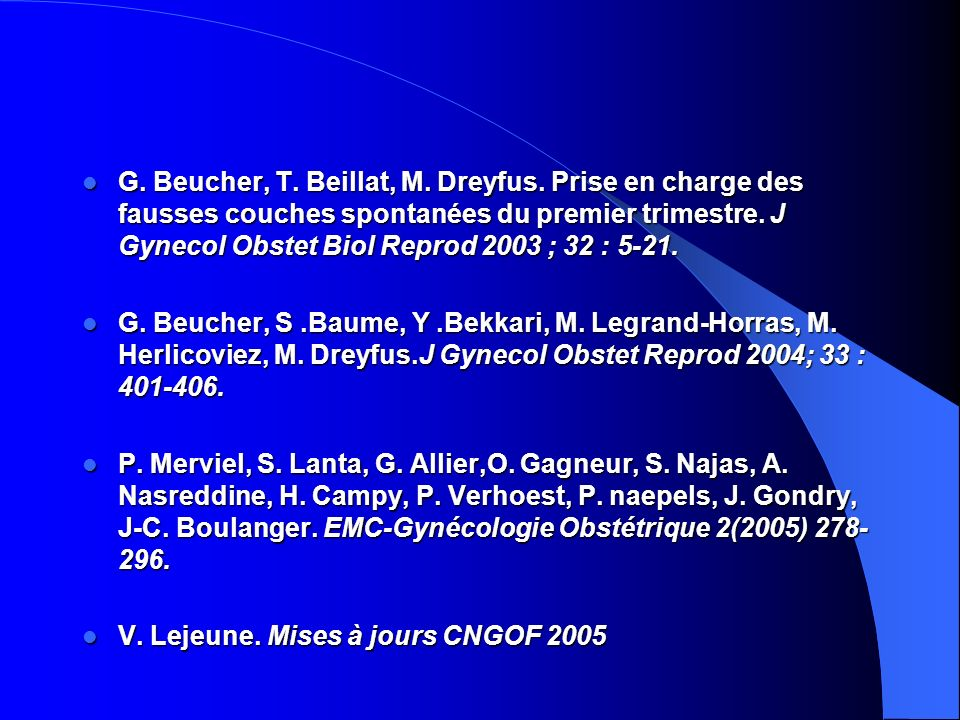 G. Beucher, T. Beillat, M. Dreyfus