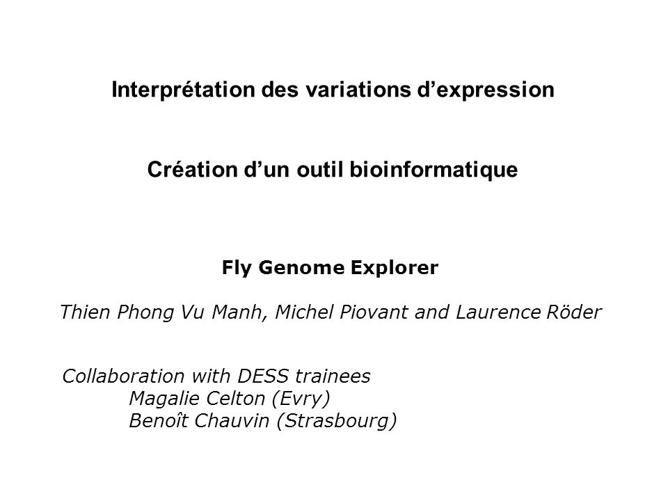 Interprétation des variations d'expression