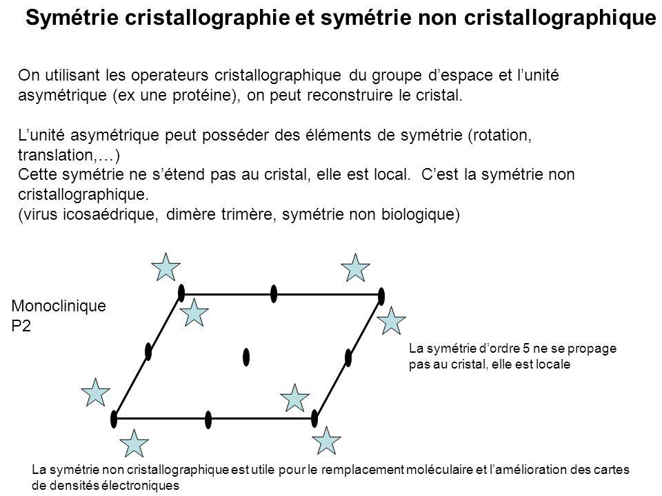 Symétrie cristallographie et symétrie non cristallographique