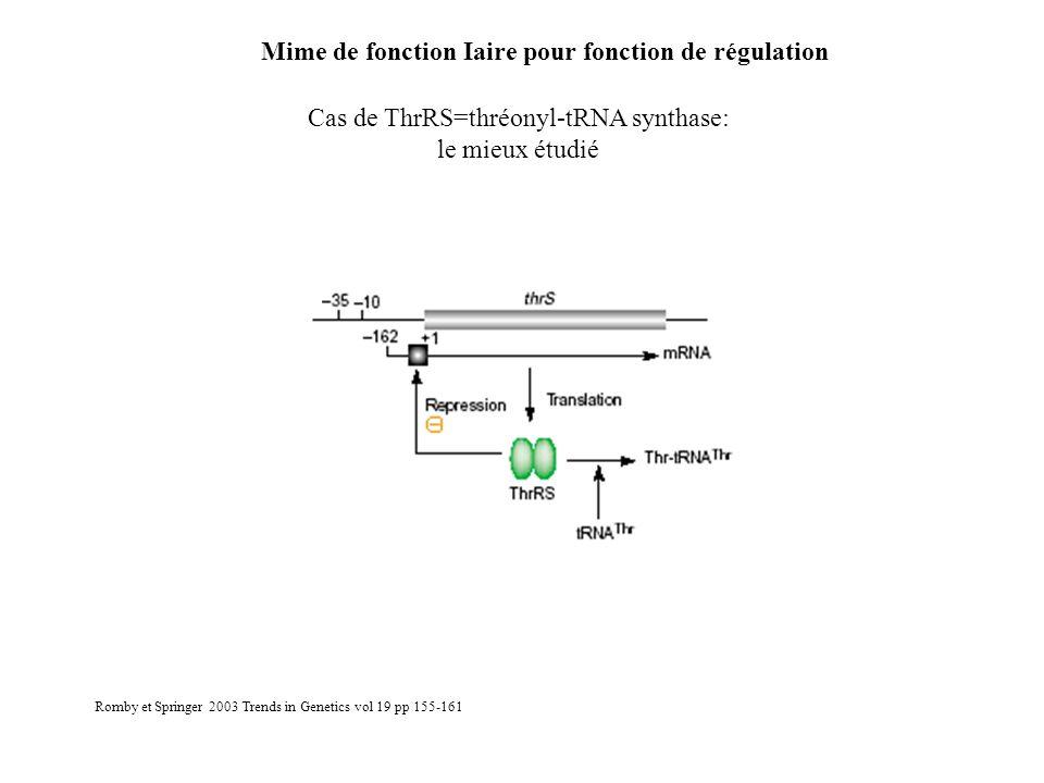Cas de ThrRS=thréonyl-tRNA synthase: