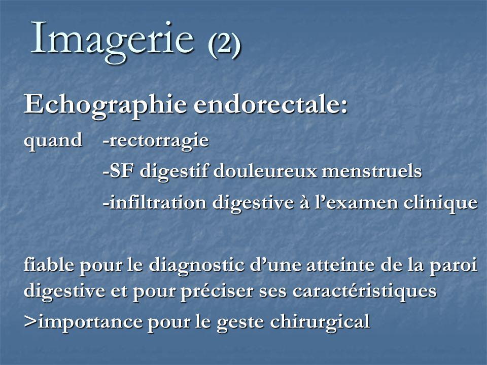 Imagerie (2) Echographie endorectale: quand -rectorragie
