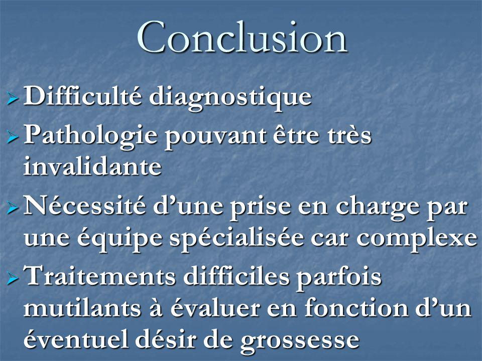 Conclusion Difficulté diagnostique
