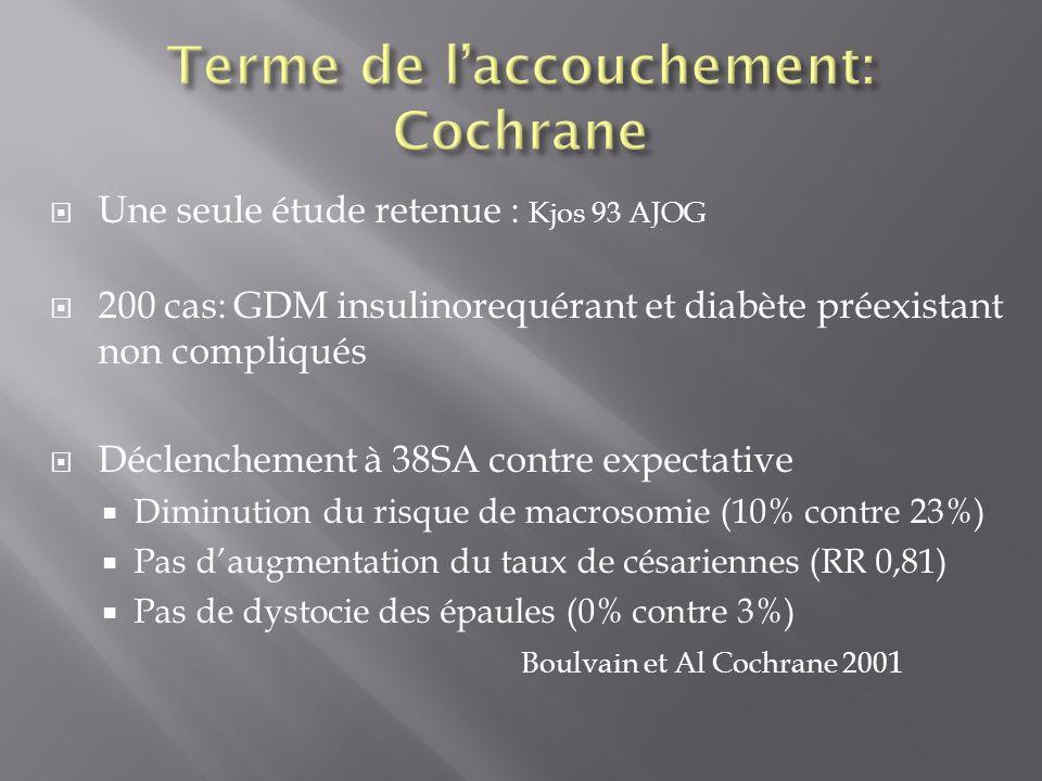Terme de l'accouchement: Cochrane